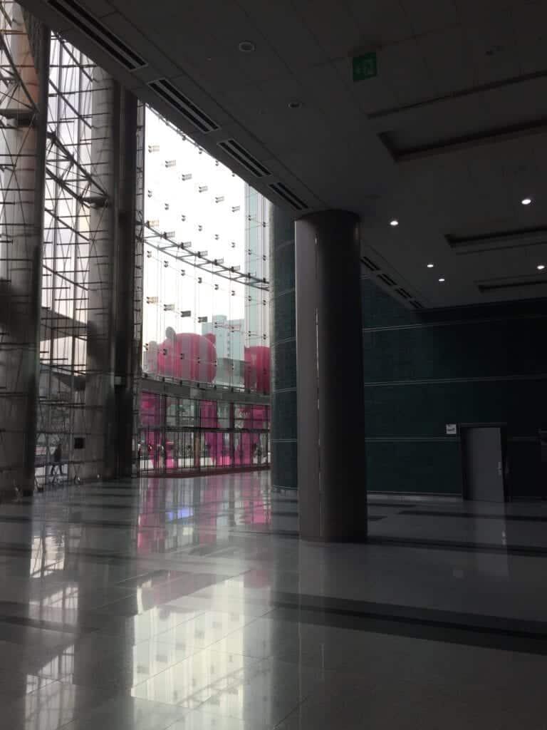 Der Eingang zum Exhibition Centre